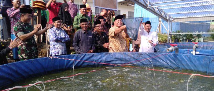 Ponpes Makrifatul Ilmi Panen Perdana Ikan Lele Sitem Bioflog